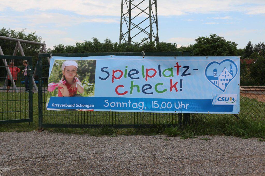 Spielplatz check der CSU Schongau Carl-Orff-Strasse
