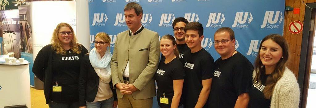 JU Schongau mit Markus Söder