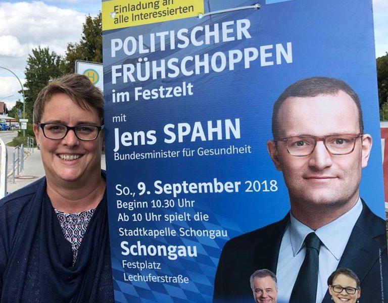 Plakatierung Volksfest in Schongau
