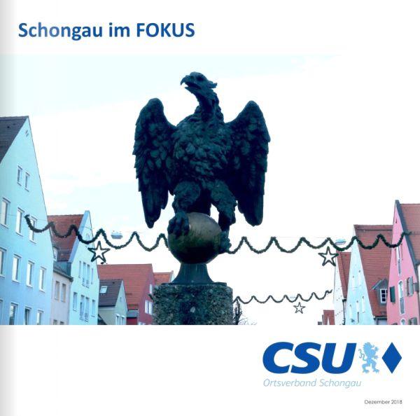 CSU Schongau im Focus Dezember 2018