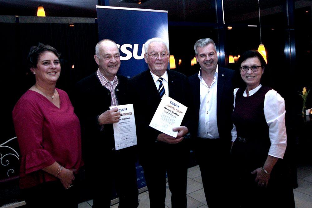 50 und 60 Jahre CSU Schongau Mitgliedschaft