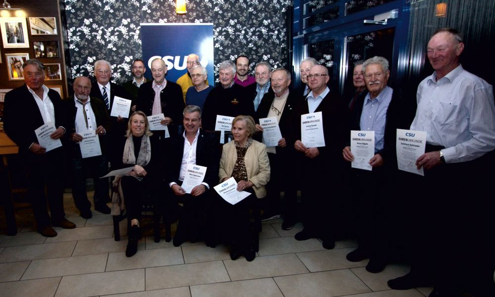 CSU ehrt langjährige Mitglieder