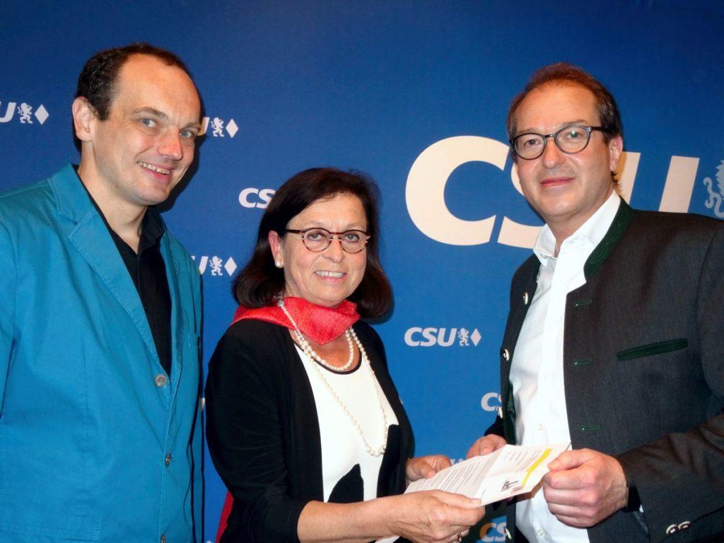 Einsatz der CSU-Fraktion für die Bundesförderung Funke Bommersbach Dobrindt