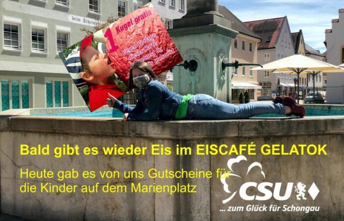 Da kann der Frühling kommen – Eisgutscheine von der CSU